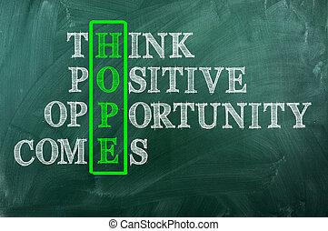 occasion, espoir