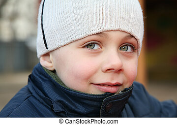 occhi grandi, bambino
