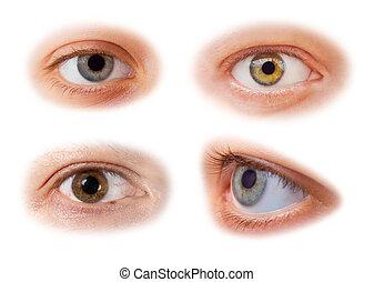 occhi, set