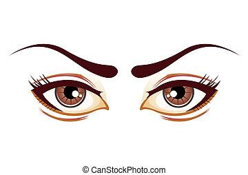 occhi, signora