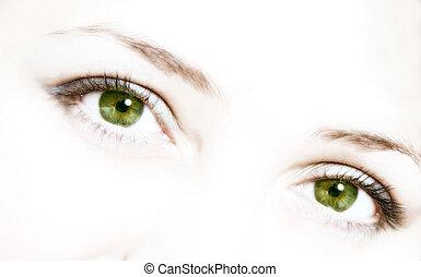occhi, verde