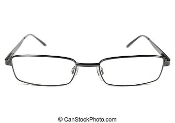occhiali, cornice, macro, uomini, isolato, titanio, nero,...