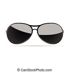occhiali da sole, bianco, vettore, arte, fondo