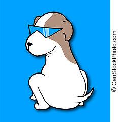 occhiali da sole, cane, illustrazione