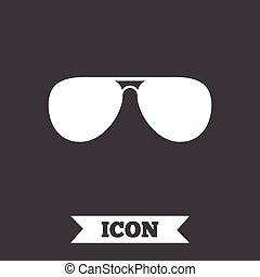 occhiali da sole, glasses., segno, icon., aviatore, pilota