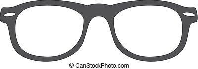 occhiali da sole, illustrazione, fondo., vettore, nero, bianco, icona