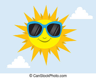 occhiali da sole, sole