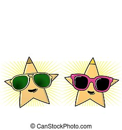 occhiali da sole, stelle