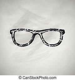 occhiali, icona