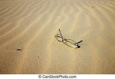 occhiali, il, spiaggia