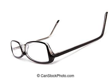 occhiali, isolato, bianco