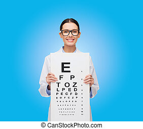 occhiali, occhio, dottore femmina