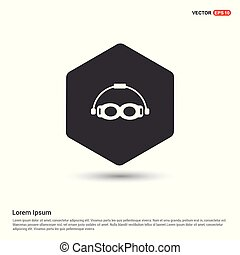 occhiali protezione swimming, icona
