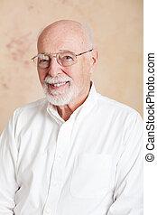 occhiali, -, ritratto, uomo, anziano