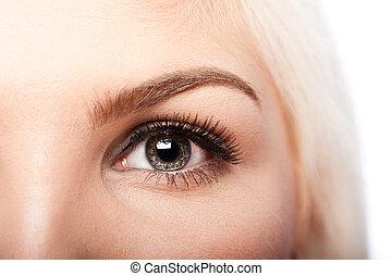 occhio, bellezza, sopracciglio