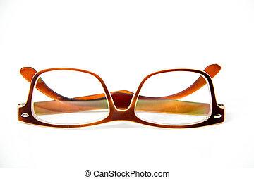 occhio, isolato, occhiali