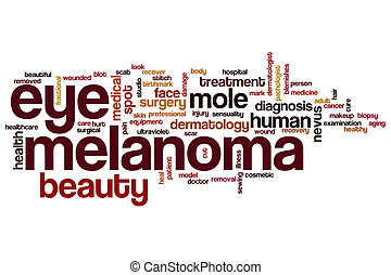 occhio, parola, melanoma, nuvola