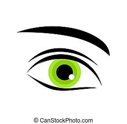 occhio verde, icona