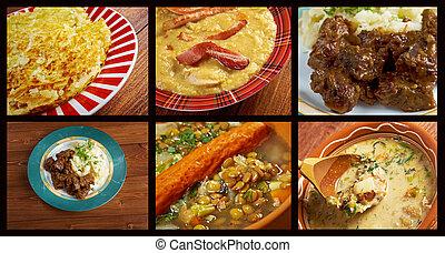 occidental, cocina, europeo