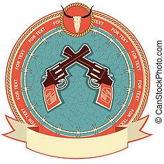 occidental, fond, symbole