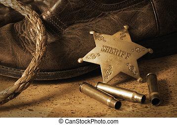 occidental, shérif