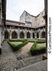occitanie, 中世, フランス, cahors, 聖者, 大聖堂, 回廊, etienne