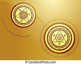 Occult symbols - Wierd arcane symbols that look strange and...