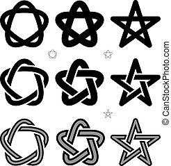 occulte, vecteur, moyen-âge, signes