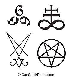 occulto, simboli, set, vettore, illustrazione