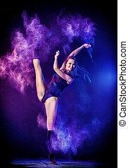 occupation - Beautiful expressive ballet dancer dancing at...