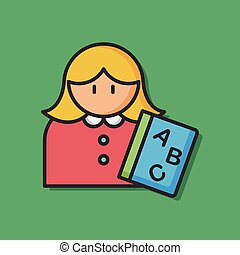 occupation character teacher icon
