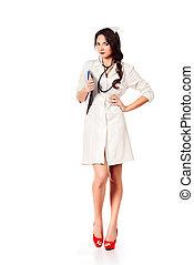 occupation - Full length portrait of a female medical...