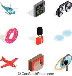Occupation icons set, isometric style