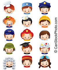Occupation icons - Vector illustration - set of people ...
