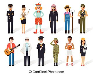 Occupation profession people - Set of diverse occupation...