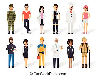 Occupation profession people - Set of diverse occupation ...
