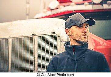 Occupation Semi Truck Driver