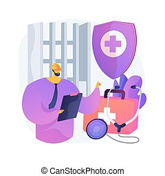 Occupational health abstract concept vector illustration. ...