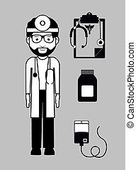 occupational medicine, vector illustration - occupational...