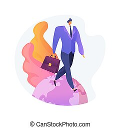 Occupational migration abstract concept vector illustration...