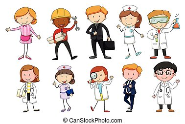 People in different kind of occupations