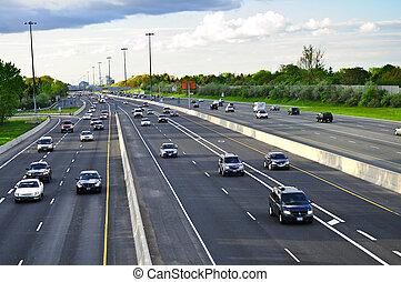 occupato, autostrada