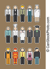 occupazione, icona