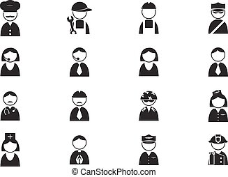 occupazione, icone, set