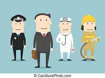 occupazione, professionale, profession., characters., persone