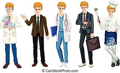occupazione, set, maschio, uniforme