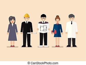 occupazione, set, professione, varietà, persone