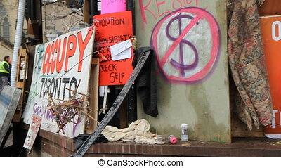 Occupy Toronto signs.