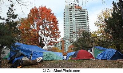 Occupy Toronto tents.