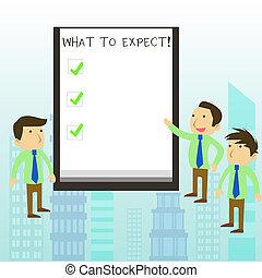 occur., wat, concept, woord, zakelijk, tekst, achting, over, schrijvende , expect., waarschijnlijk, vragen, iets, happen